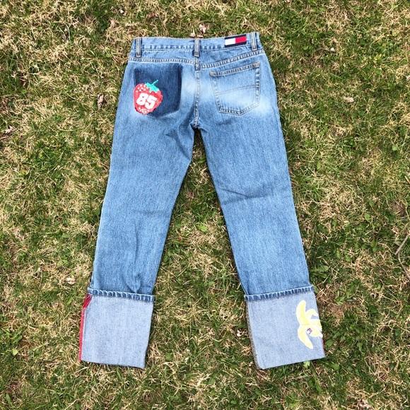 b79188d6d58 Tommy Hilfiger Pants | Vintage Large Cuff Sequin Jeans | Poshmark